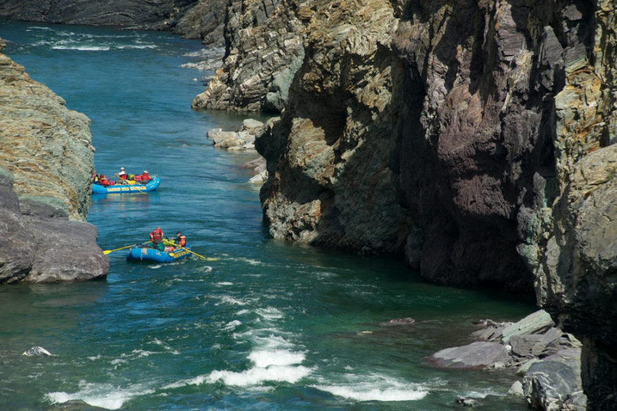 The Firth River features tremendous whitewater in shallow canyons that cut through the tundra to the Arctic Ocean