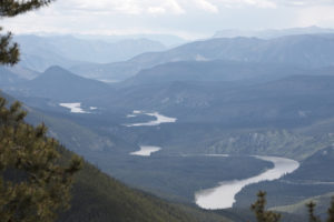 The meandering Nahanni River in Nahanni National Park Preserve in Canada's Northwest Territories.
