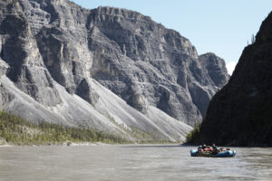 Rafting through Canada's deepest river canyons on the Nahanni River.