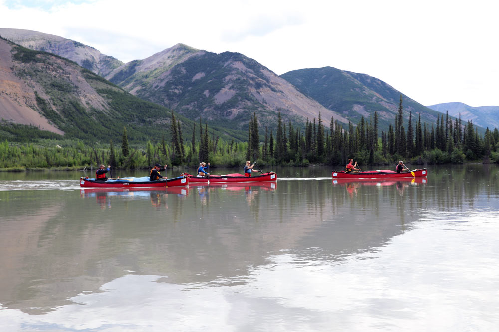 Canoeing the Nahanni River in Nahanni National Park Preserve.