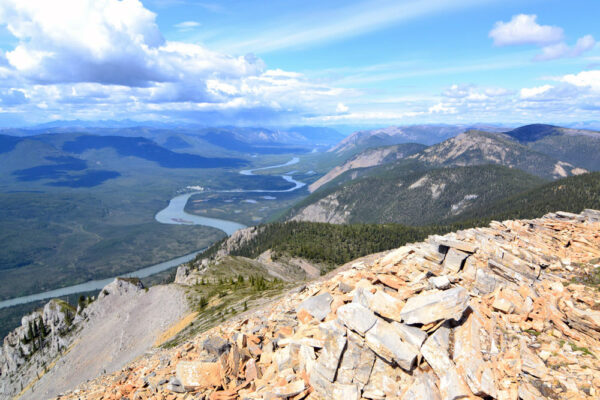 A view of the Nahanni River as it winds it's way through Nahanni National Park Preserve in Canada's Northwest Territories.