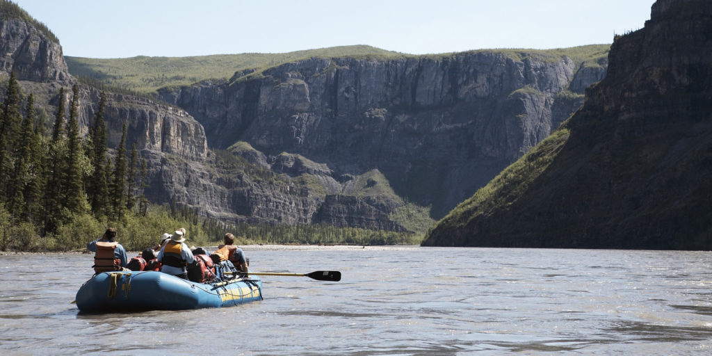 Canada's deepest river canyons on the Nahanni River. Nahanni National Park and UNESCO World Heritage Site, NWT.