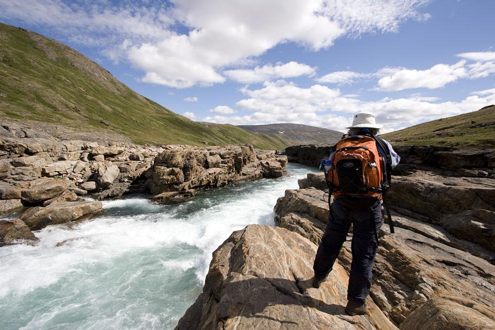 Rafting the Soper River in Nunavut, Canada.