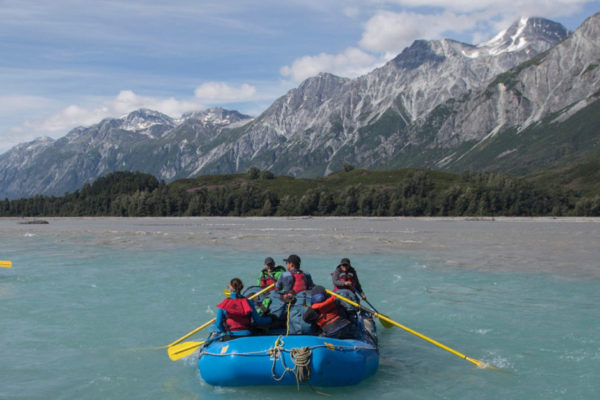Rafting the Tatshenshini River, perhaps the wildest and most visually spectacular river in North America.