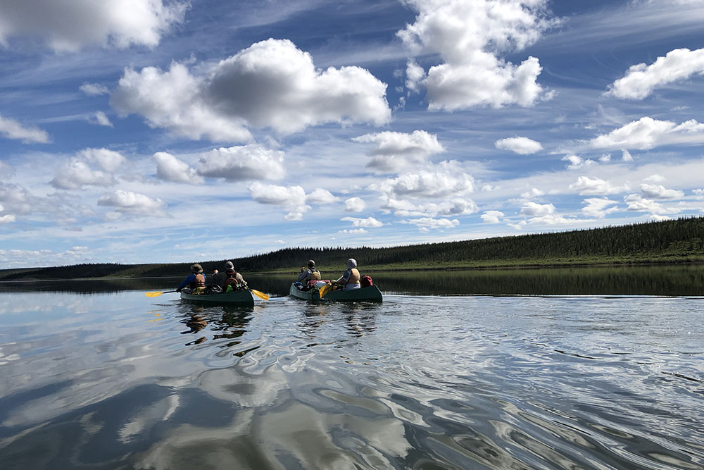 Canoeing the Thelon River in Canada's Northwest Territories.