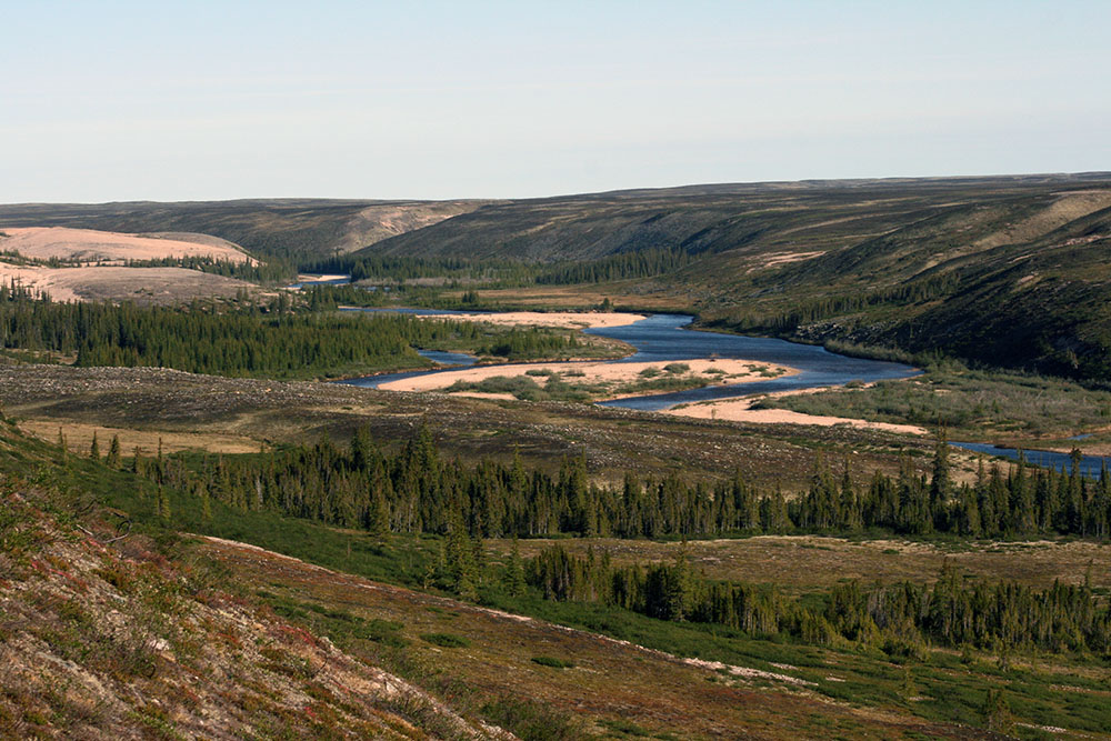 Thelon River Valley in Canada's Northwest Territories.