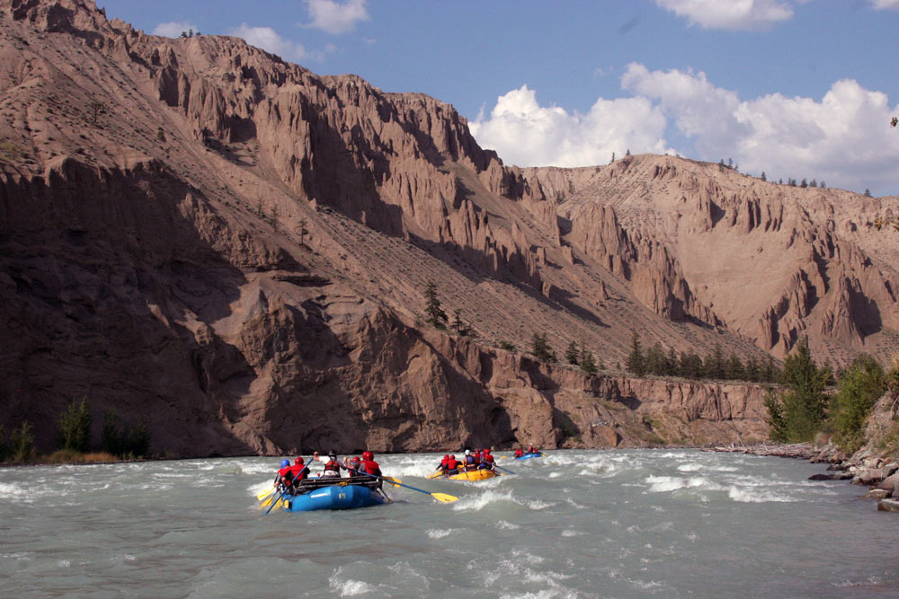 A day on the water taking in the ancient topography of the Chilcotin canyons
