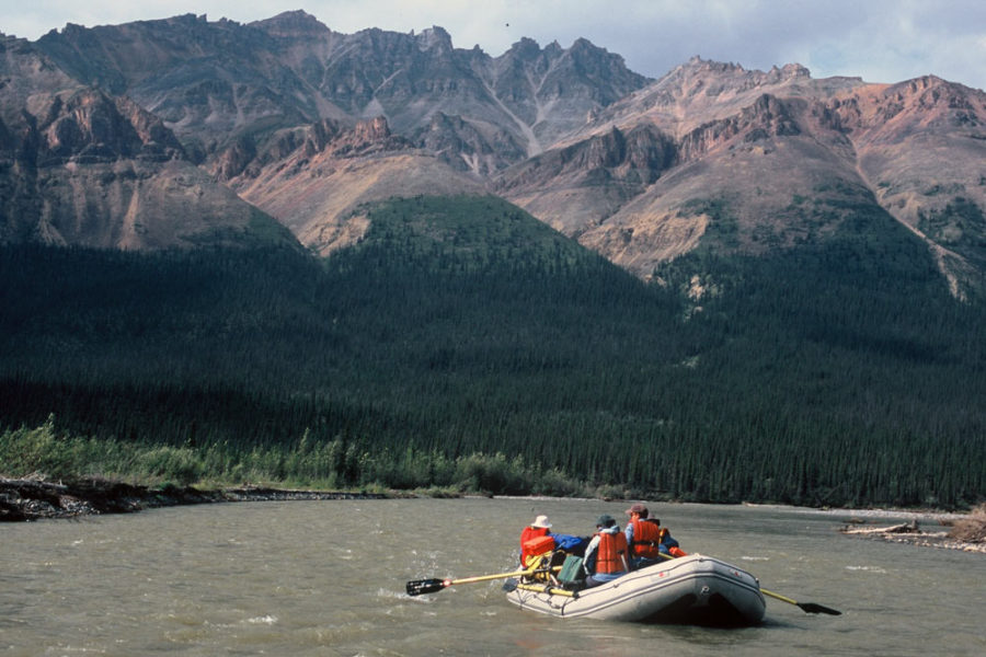 Rafters on the Mountain River in Canada's Northwest Territories