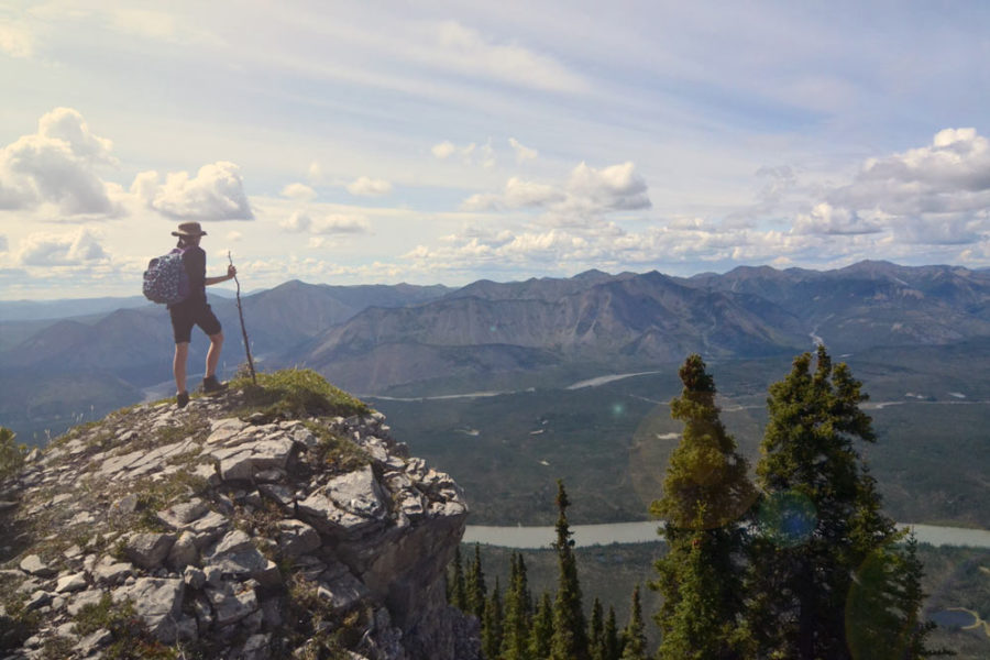 Hiking in Nahanni National Park Preserve in Canada's Northwest Territories.