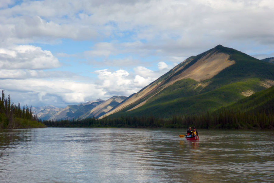 Flatwater Canoeing on the Nahanni River in Nahanni National Park Preserve in Canada's Northwest Territories.