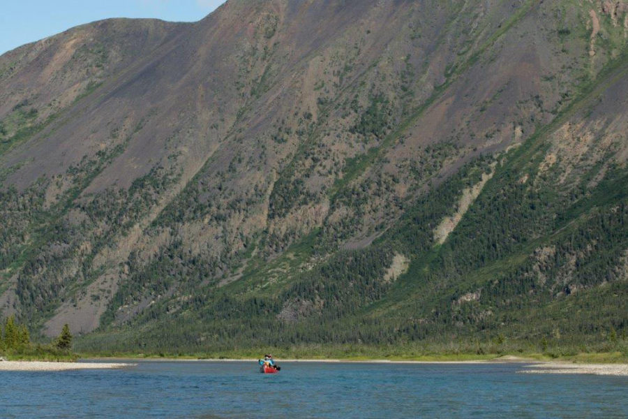 Canoeing the Wind River, Yukon Territory, in the Peel Watershed.