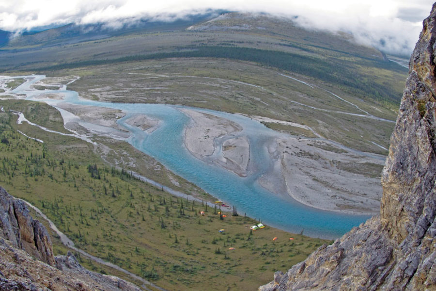 High above the Wind River, Yukon Territory, in the Peel Watershed.