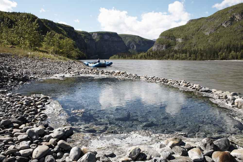 Kraus Hot Springs on the Nahanni River. (Photo: Noel Hendrickson)