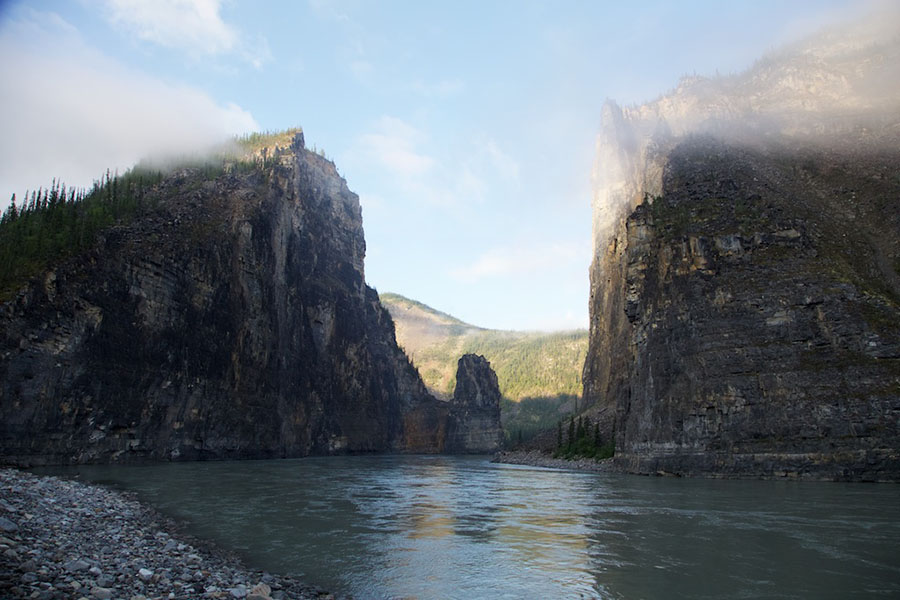 A view of the Gate on the Nahanni River