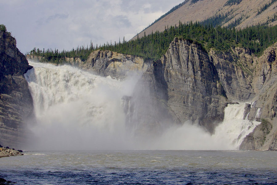 Virginia Falls on the Nahanni River