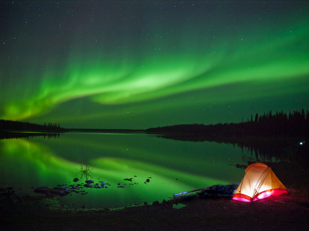 Northern Lights Over Lake Northwest Territories
