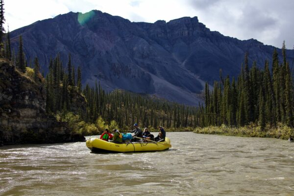 Rafting the Mountain River in Canada's Northwest Territories.