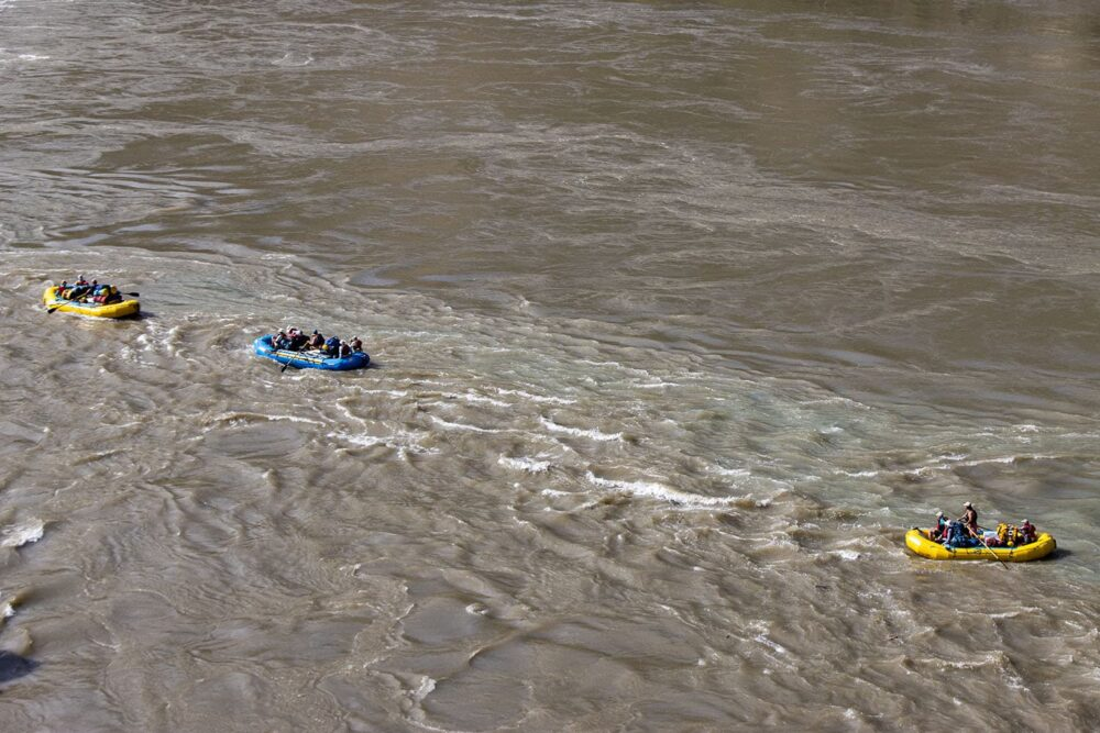 Rafting through rapids on the Taseko, Chilko, & Chilcotin Rivers in British Columbia.