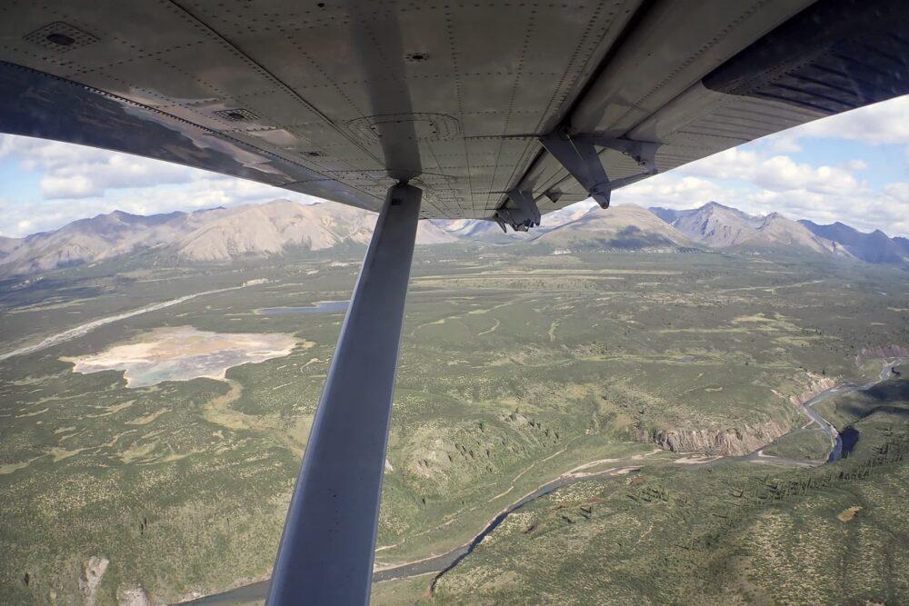 Flying into the Broken Skull River